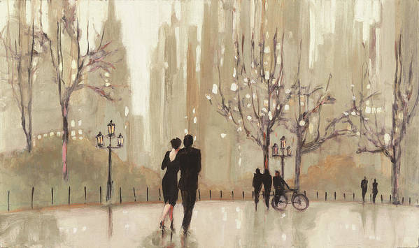 Beige Art Print featuring the painting An Evening Out Neutral by Julia Purinton