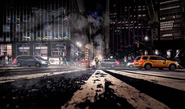 Nyc Art Print featuring the photograph Gotham - Breaking Dawn by Jackson Carvalho