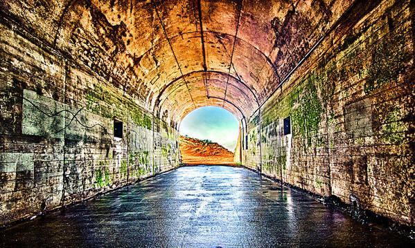 Hawk Hill Art Print featuring the photograph Hawk Hill Tunnel by Robert Rus