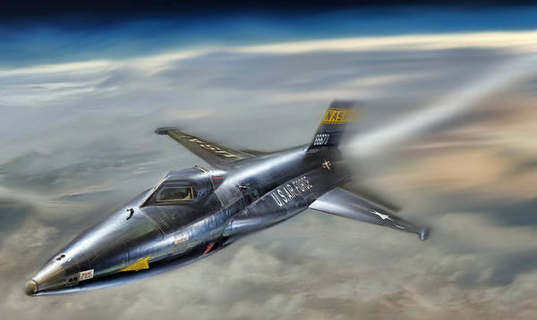 North American X-15 Art Print featuring the digital art Hypersonic by Peter Chilelli