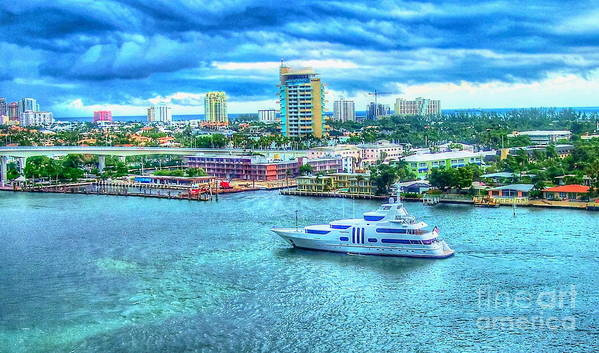 Ft. Lauderdale Art Print featuring the photograph Lauderdale by Debbi Granruth