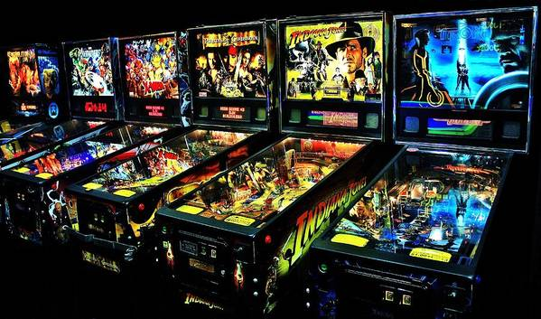 Pinball Art Print featuring the photograph Modern Machines by Benjamin Yeager
