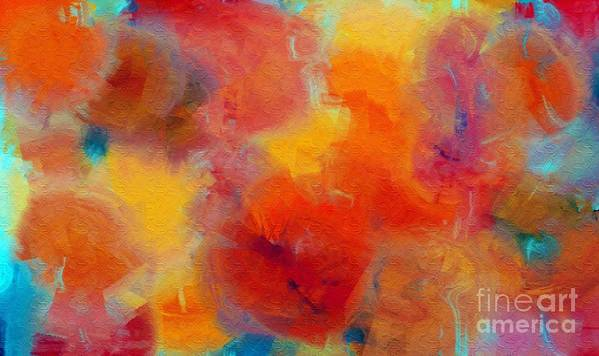 Abstract Art Print featuring the digital art Rainbow Passion - Abstract - Digital Painting by Andee Design