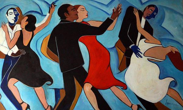 Dancers Art Print featuring the painting Salle De Danse by Valerie Vescovi
