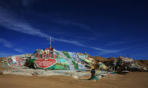 Salvation Mountain Print featuring the photograph Salvation Mountain by Laurie Search