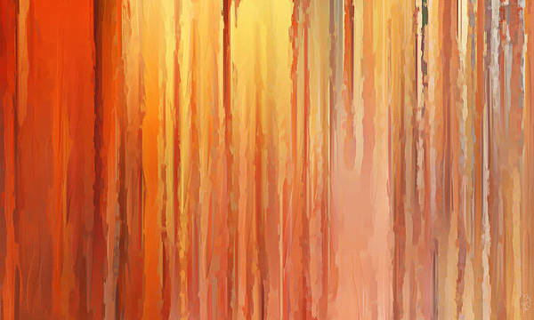 Orange Art Print featuring the painting Sunset Infinity by Lourry Legarde