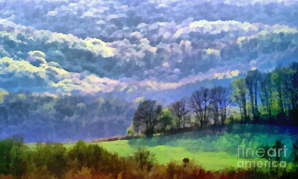 Odon Art Print featuring the painting Landscape by Odon Czintos