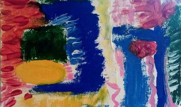 Abstract Art Print featuring the painting Abstract by Lisa S Patti