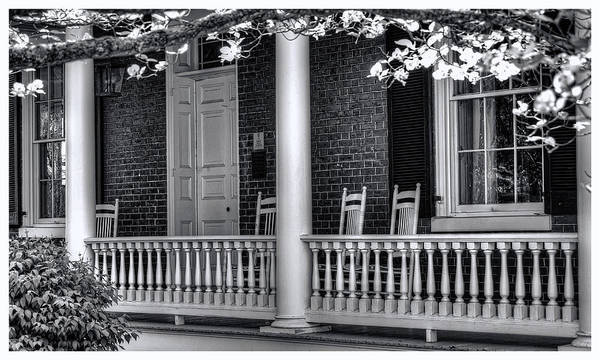 National Register Art Print featuring the photograph Avenel Porch - Bedford - Virginia by Steve Hurt