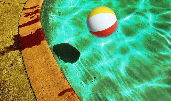 Pool Art Print featuring the photograph Ball by Mike Cavanaugh