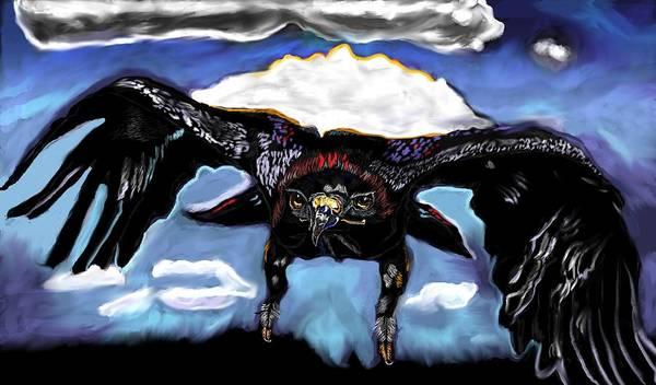 Black Hawk Down Art Print featuring the painting Black Hawk Down by Herbert Renard