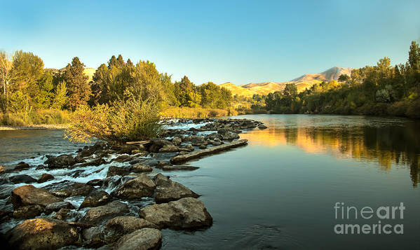 Idaho Art Print featuring the photograph Calm Payette by Robert Bales