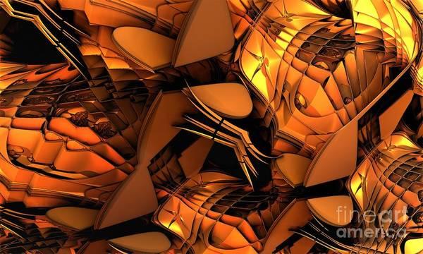 Fractal Art Art Print featuring the digital art Fractal - Orchestra by Bernard MICHEL