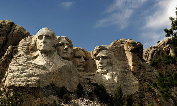 Mount Rushmore National Monument Art Print featuring the photograph Mount Rushmore National Monument -5 by Paul Cannon