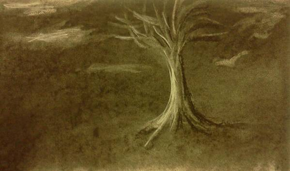 Tree Art Print featuring the drawing Stormy Weather by Stacy C Bottoms