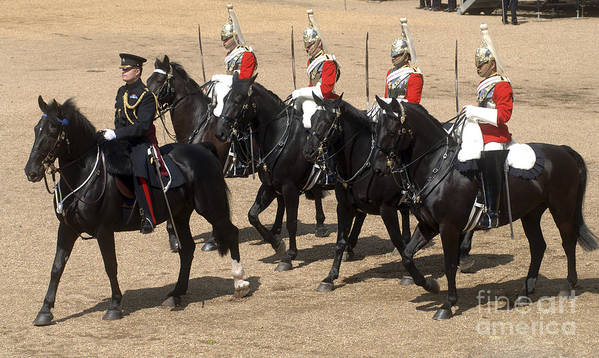 Horse Guards Parade Art Print featuring the photograph The Household Cavalry Performs by Andrew Chittock