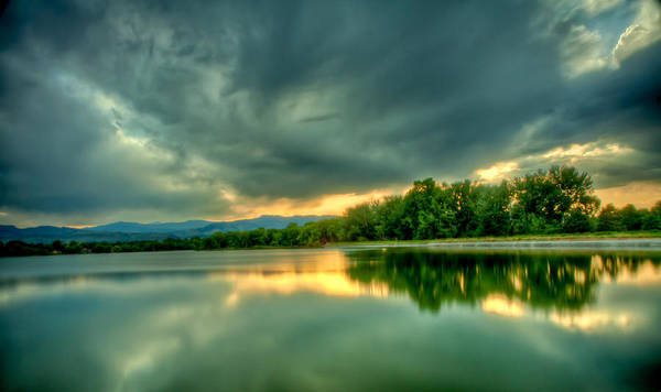 Lake Art Print featuring the photograph Warren Lake At Sunset by Anthony Doudt