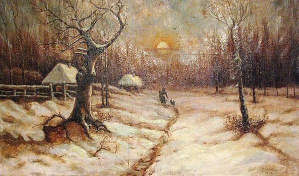 Winter Art Print featuring the photograph Winter by Andonis Katanos