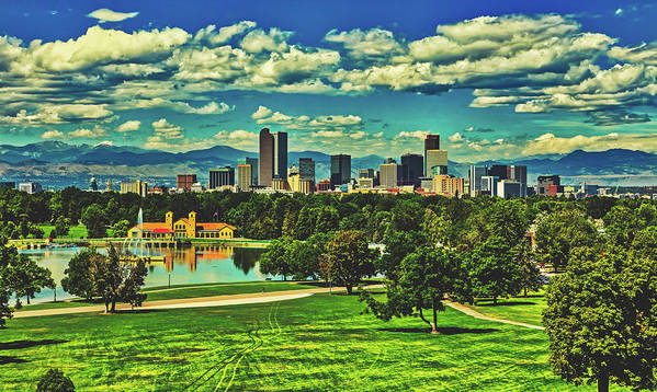 Denver Art Print featuring the photograph Denver City Park by Library Of Congress