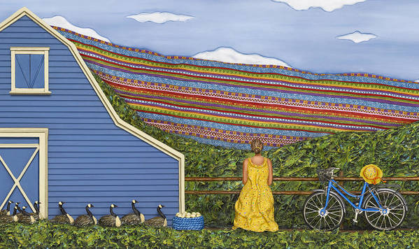 Rural Landscape Art Print featuring the sculpture Dream Cycle by Anne Klar