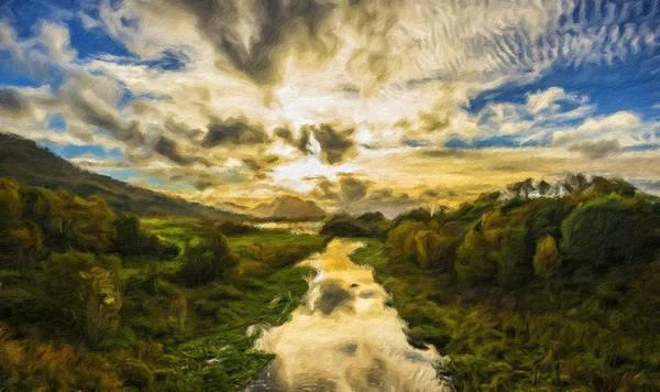 New Art Print featuring the digital art Landscape Color by Malinda Spaulding