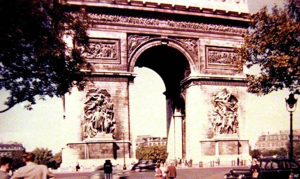 1955 Art Print featuring the photograph Arc De Triomphe 1955 by Will Borden