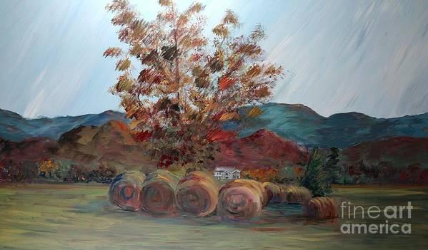 Autumn Art Print featuring the painting Arkansas Autumn by Nadine Rippelmeyer