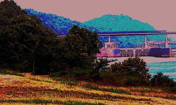 Arkansas Art Print featuring the digital art Arkansas River Lock by Tom Herrin