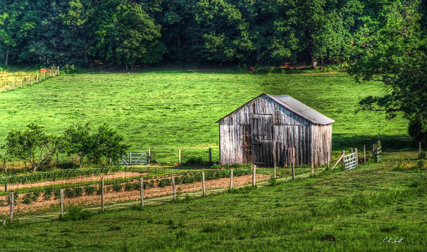 Art Art Print featuring the photograph Bucolic Tobacco Barn 1 by E R Smith
