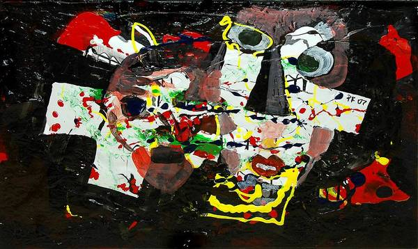 Abstract Art Print featuring the painting Collage 2 by Paul Freidin
