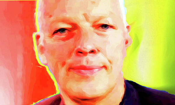 David Gilmour Art Print featuring the painting David Gilmour # 001 Nixo by Never Say Never