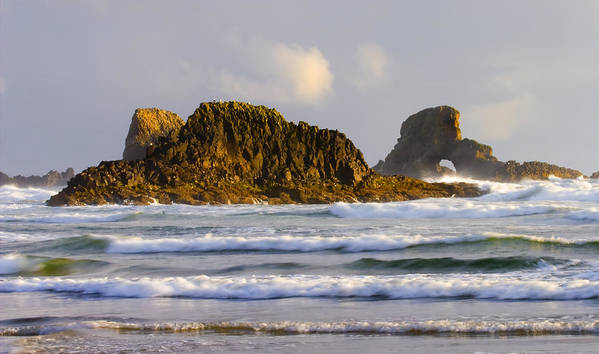 Seastacks Art Print featuring the photograph Eye Of The Storm by Mike Dawson