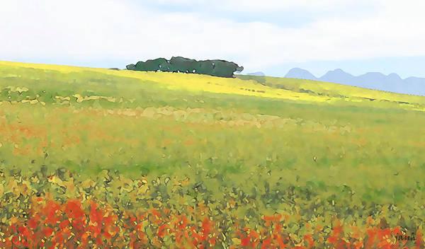 Landscape Art Print featuring the digital art Fields by Jan Hattingh