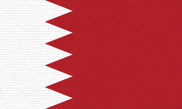 Flag Of Bahrain Art Print featuring the digital art Flag Of Bahrain Wall. by Roy Pedersen