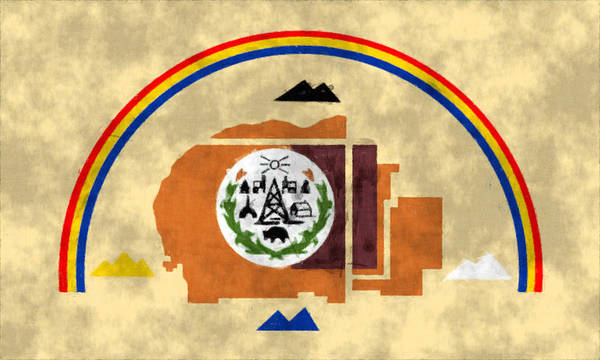 Flag Of Navajo Nation Art Print By World Art Prints And