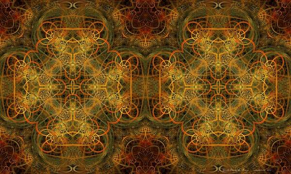 Fractal Art Print featuring the digital art Gentle Comes The Breeze by Gayle Odsather