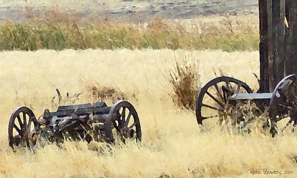 Conestoga Art Print featuring the painting Ghost Of The Oregon Trail by Everett Bowers