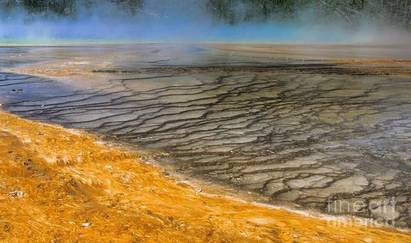 Yellowstone Art Print featuring the photograph Grand Prismatic Runoff by Sandra Bronstein