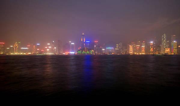 Harbor Art Print featuring the photograph Hong Kong Harbor December 2 by Brad Rickerby