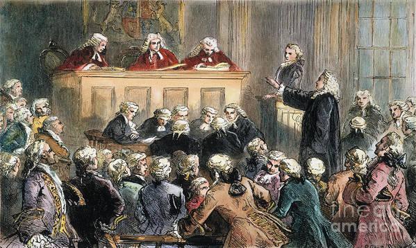 1735 Print featuring the photograph John Peter Zenger Trial by Granger