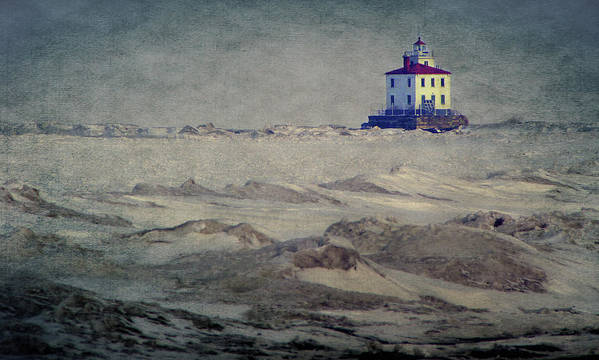 Lake Erie Art Print featuring the photograph Lake Erie Lighthouse by William Schmid