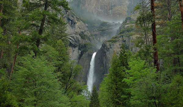 Yosemite Falls Art Print featuring the photograph Lower Yosemite Falls by Stephen Vecchiotti