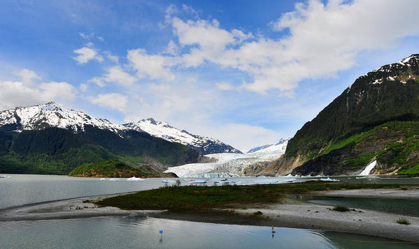 Mendenhall Art Print featuring the photograph Mendenhall Glacier by Keith Gondron