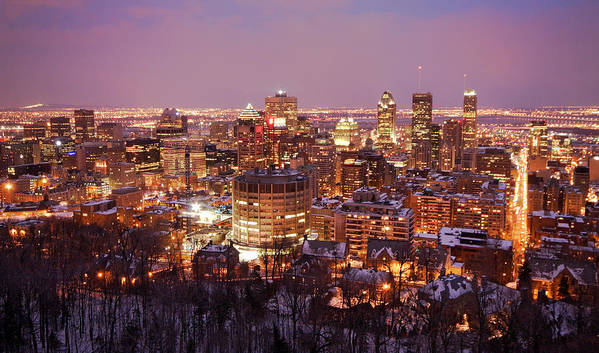 Montreal Art Print featuring the photograph Montreal City Lights by Pierre Leclerc Photography