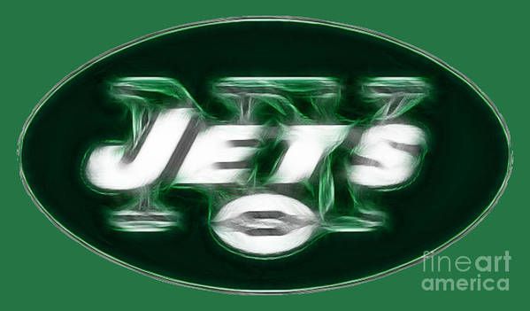 Ny Jets Logo Art Print featuring the photograph Ny Jets Fantasy by Paul Ward