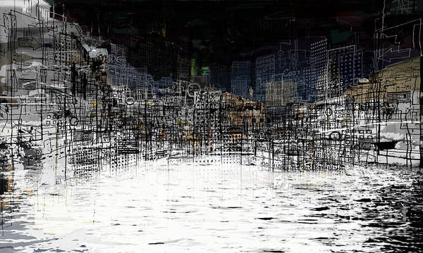 Waterfront Art Print featuring the digital art On The Waterfront by Andy Mercer
