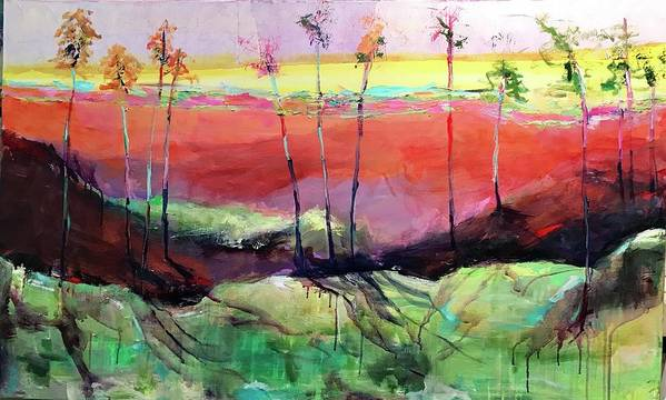 Abstracted Landscape Art Print featuring the photograph Panoramic Ensemble by Trish Kahn