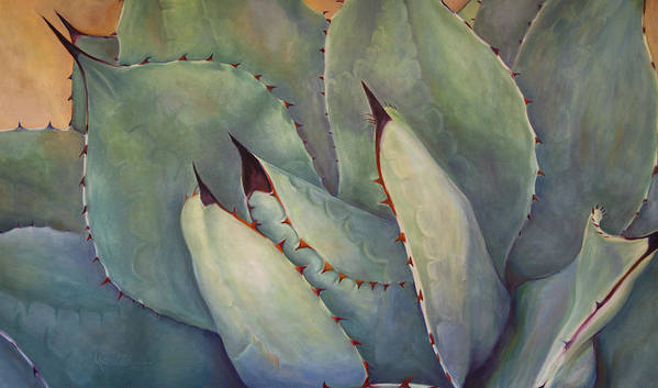 Agave Art Print featuring the painting Prickly 2 by Athena Mantle