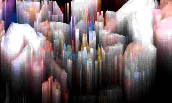 Abstract Art Print featuring the digital art Salnen by Lyle Crump