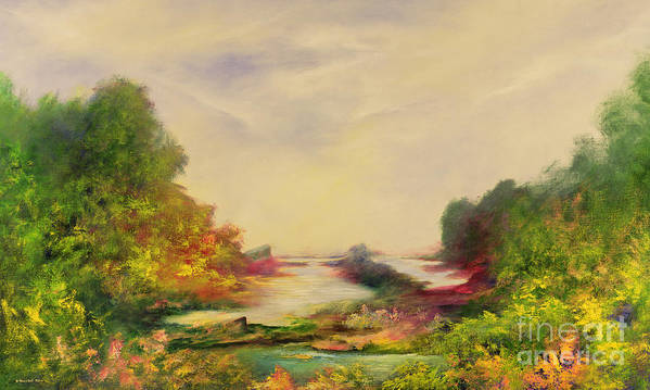 Valley Art Print featuring the painting Summer Joy by Hannibal Mane